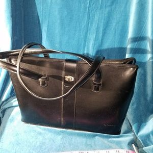 Handbags - Franklin Covey Hard Leather Laptop Bag